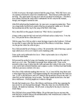 Pecos Bill - A Tall Tale -Easy Reading Version