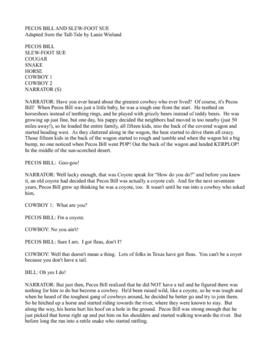 Pecos Bill: A script for re... by Elaine Wieland | Teachers Pay ...