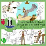 Pecos Bill Clip Art, Tall Tales, Wild West