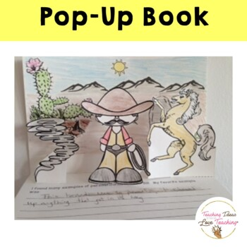 Pecos Bill:  Close Reading Lesson on Personification and Pop up Book