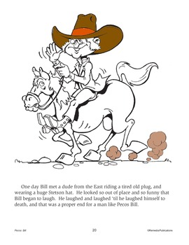 Pecos Bill: Read & Color - Enhanced
