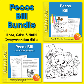 Pecos Bill: Read & Color Story + Skill-Based Activities {Bundle}