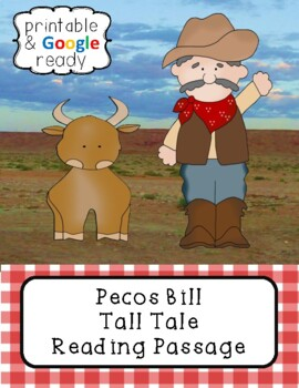 Pecos Bill Tall Tale Close Reading Passage