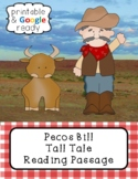 Pecos Bill Tall Tale Close Reading Passage and Questions