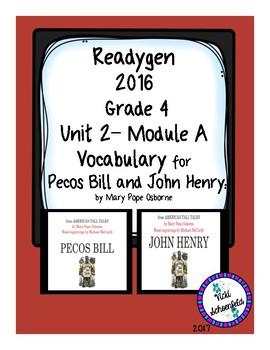 Pecos Bill and John Henry by Mary Pope Osborne Readygen Grade 4 Vocabulary
