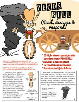 Pecos Bill {read, discuss & respond!}