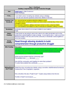 Pedal Power by Allan Drummond Lesson Plan and Activities