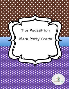 Pedestrian Block Party Cards