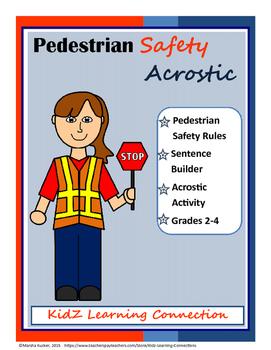 Pedestrian Safety Acrostic Bundle