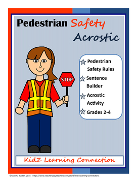 Pedestrian Safety Acrostic Bundle
