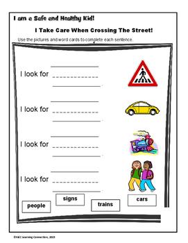 Pedestrian Safety: Sentence Builders