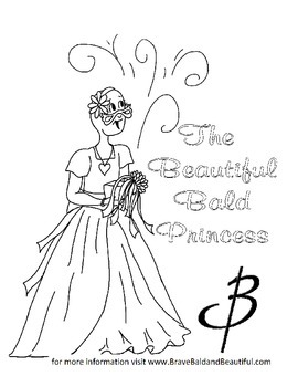 Pediatric Cancer Princess/Knight Coloring page