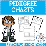 Pedigree Chart Lesson Bundle: Worksheet, Exit Slip and Homework included
