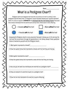 Fillable Online Pedigree Worksheet 1 - Mr Hartans Science Class ...