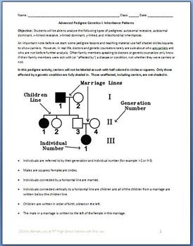 Pedigree Genetics: 2 Tutorial and Question Packet Bundle!
