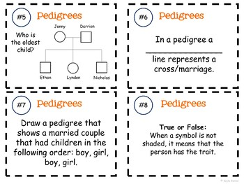 Pedigree Task Cards