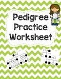 Pedigree Practice Worksheet