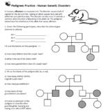 Pedigrees Practice - Human Genetic Disorders (Key)