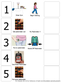 Pedometer Visual for PE Class