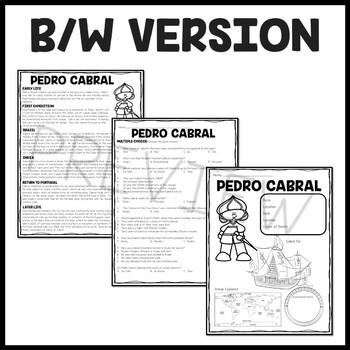 Pedro Cabral article, questions, map, Explorers, Portuguese
