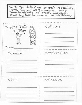 Pedro Puts on a Play: 4th Grade Harcourt Storytown Lesson 5