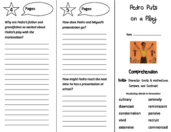 Pedro Puts on a Play Trifold - Storytown 4th Grade Unit 1 Week 5