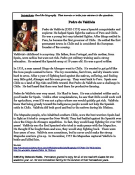 Pedro de Valdivia Biography