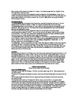 Pedro's Journal Interdisciplinary 3-4 Wk Middle School Unit