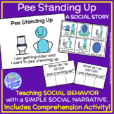 Pee Standing Up- A Social Story for Boys to Learn How to Pee in the Toilet