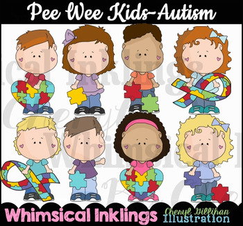 Pee Wee Kids Autism Clipart Collection-Colored Images Only