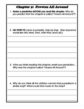 Pee Wee Scouts- Grumpy Pumpkins Reading Response Questions