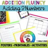 Adding Three Numbers {Give Me Three Addition Pack}