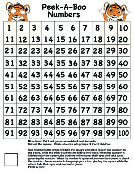 Peek-A-Boo Number Game
