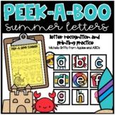 Peek-A-Boo Summer Letters