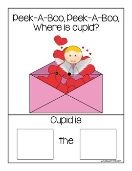 Peek-A-Boo, Where is Cupid?- Adapted book for Autism