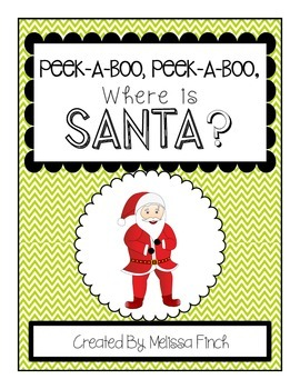 Peek-A-Boo, Where is Santa? Adapted Book for Autism Students