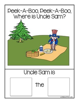 Peek-A-Boo, Where is Uncle Sam?-Adapted book for Autism