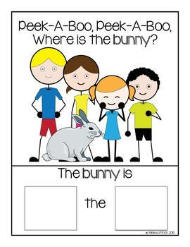 Peek-A-Boo, Where is the Bunny?- Adapted book for Autism