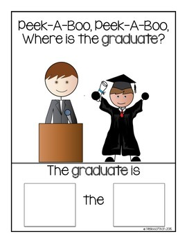 Peek-A-Boo, Where is the Graduate?- Adapted book for Autism