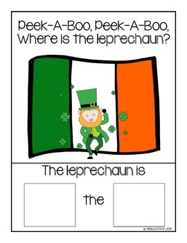 Peek-A-Boo, Where is the Leprechaun?-Adapted book for Autism Students