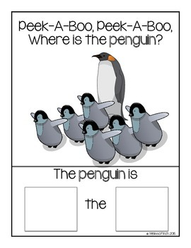 Peek-A-Boo, Where is the Penguin?- Adapted book for Autism