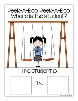 Peek-A-Boo, Where is the Student (Girl)?-Adapted Book for Autism