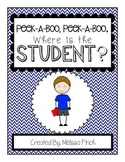 Peek-A-Boo, Where is the Student (boy)?-Adapted Book for Autism