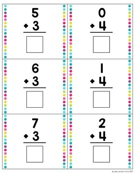 Peek-A-Boo Addition Task Cards {Self-Checking}
