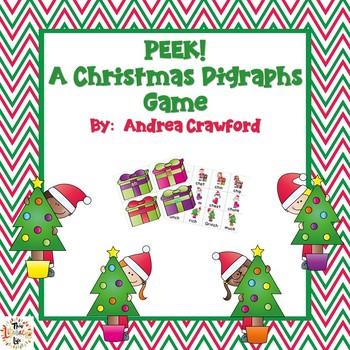 Peek!  A Christmas Digraphs Game {ch, sh, th, wh}