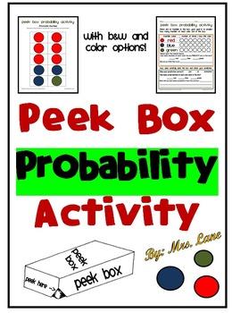 Peek Box Probability Activity