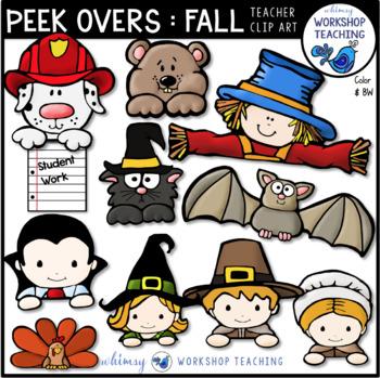 Peek Overs: FALL Clip Art  - Whimsy Workshop Teaching