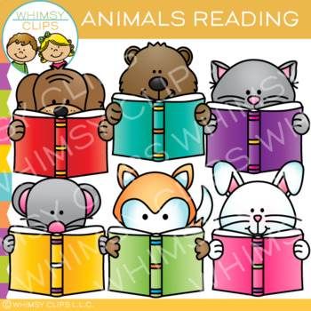 Peek-a-Boo Animals Reading Clip Art