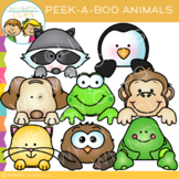 Page Topper Peek-a-Boo Animals Clip Art