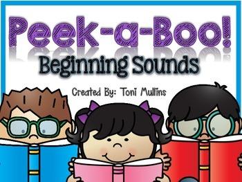 Peek-a-Boo! Beginning Sounds Flip Worksheets